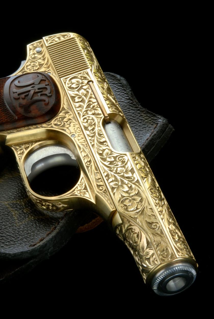 PRODUCTS ZEKE  M1910 真鍮製ハンドリングモデル・彫刻井浦勝雄氏作(所有者てるぱ大臣氏)
